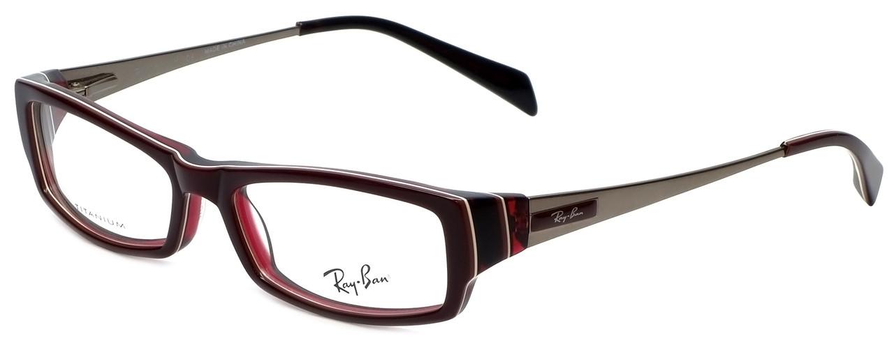 933d6c5b10 Ray-Ban Designer Eyeglasses RB5136-2286 in Burgundy 51mm    Rx Single Vision