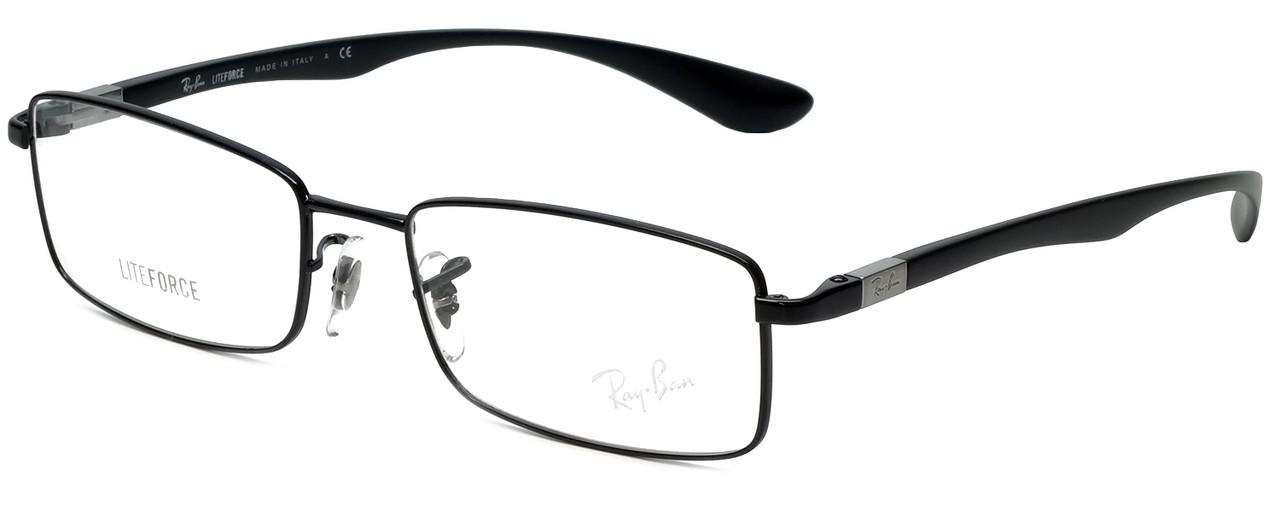 a6bd95e3c7 Ray-Ban Designer Eyeglasses LiteforceRB6286-2509 in Black 52mm     Progressive