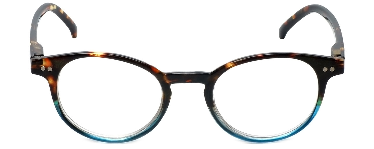 369f82304b3 M Readers Designer Reading Glasses 101-DEMBU in Tortoise Blue Fade 44mm
