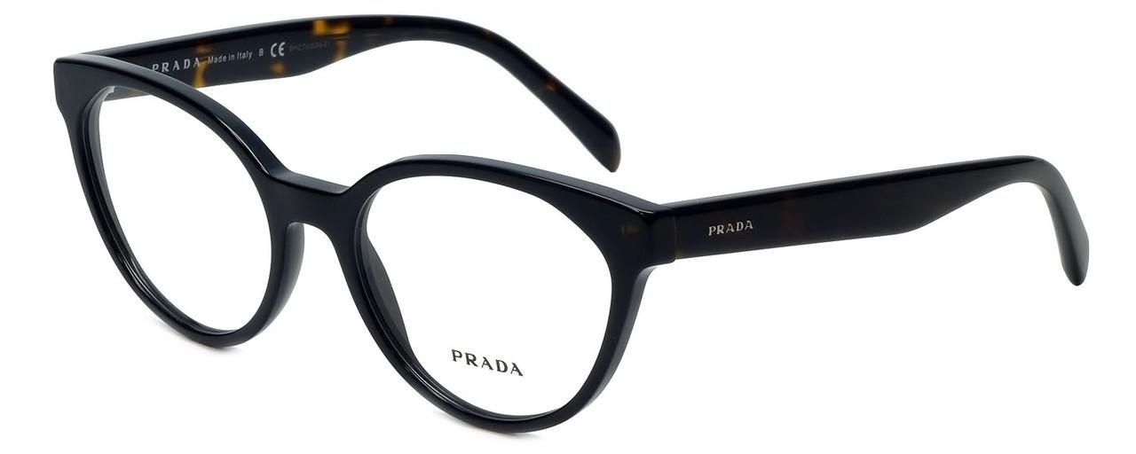 519a3a4553580 Prada Designer Reading Glasses VPR01T-1AB1O1 in Black Tortoise 53mm ...