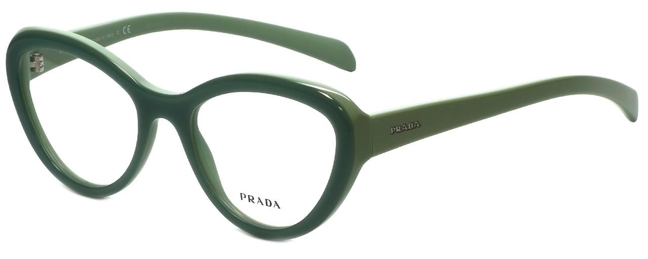 3064a0e0eb9c Prada Designer Reading Glasses VPR25R-TKQ1O1 in Green 52mm - Speert ...