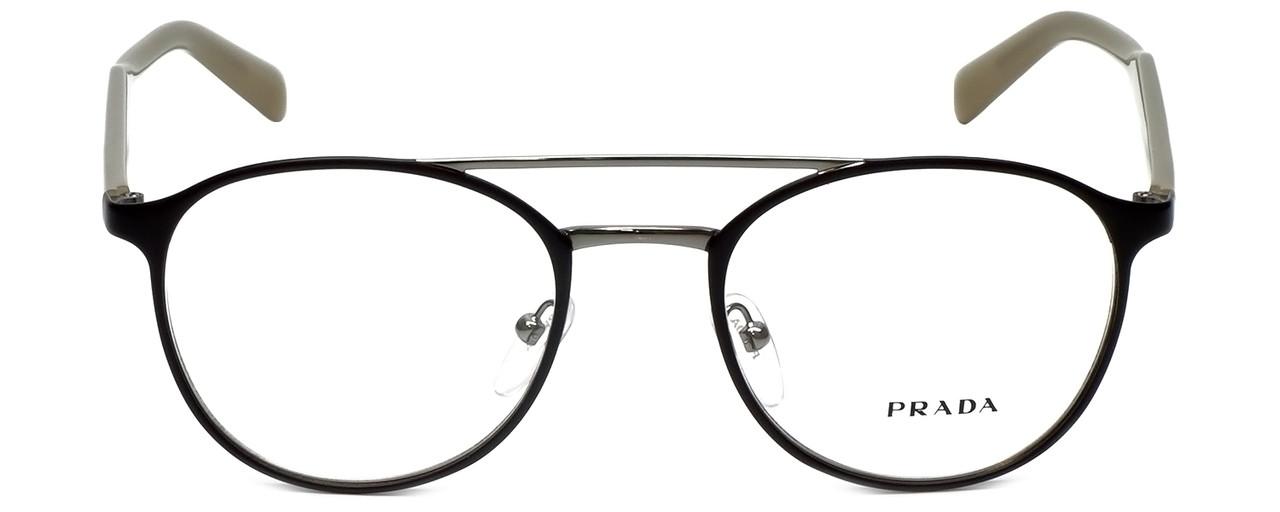 721f970db0839 Prada Designer Reading Glasses VPR60T-LAH1O1 in Matte Brown 49mm ...