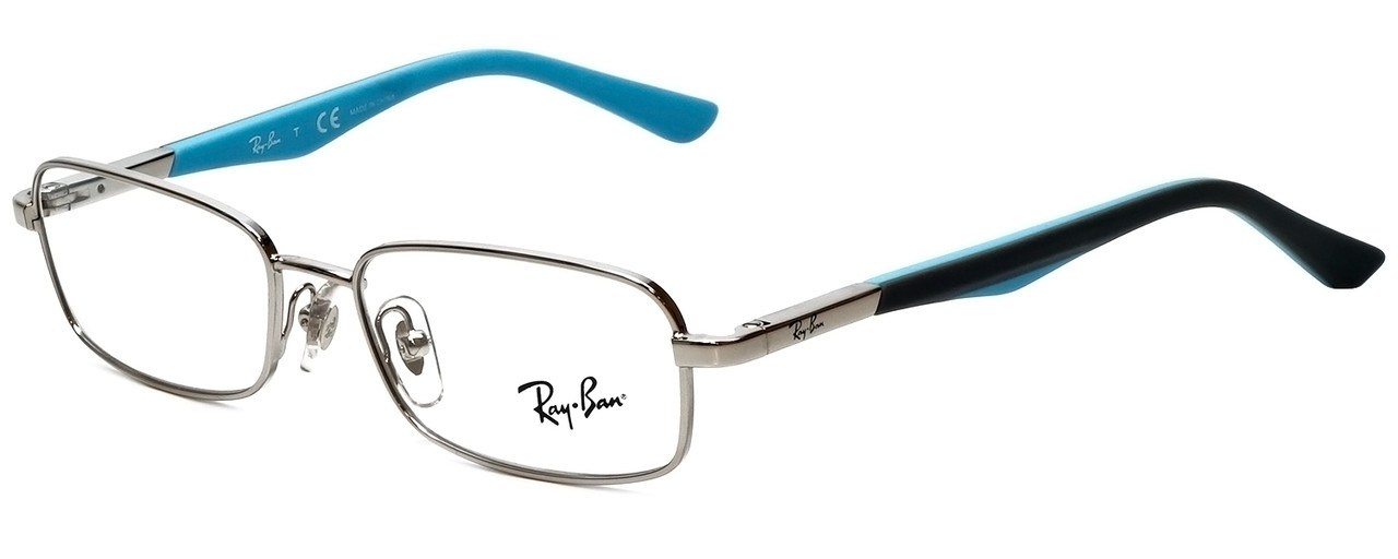 afe8ac6d5ae Ray-Ban Designer Eyeglasses RB1035-4017 in Silver Grey Blue 47mm    Custom