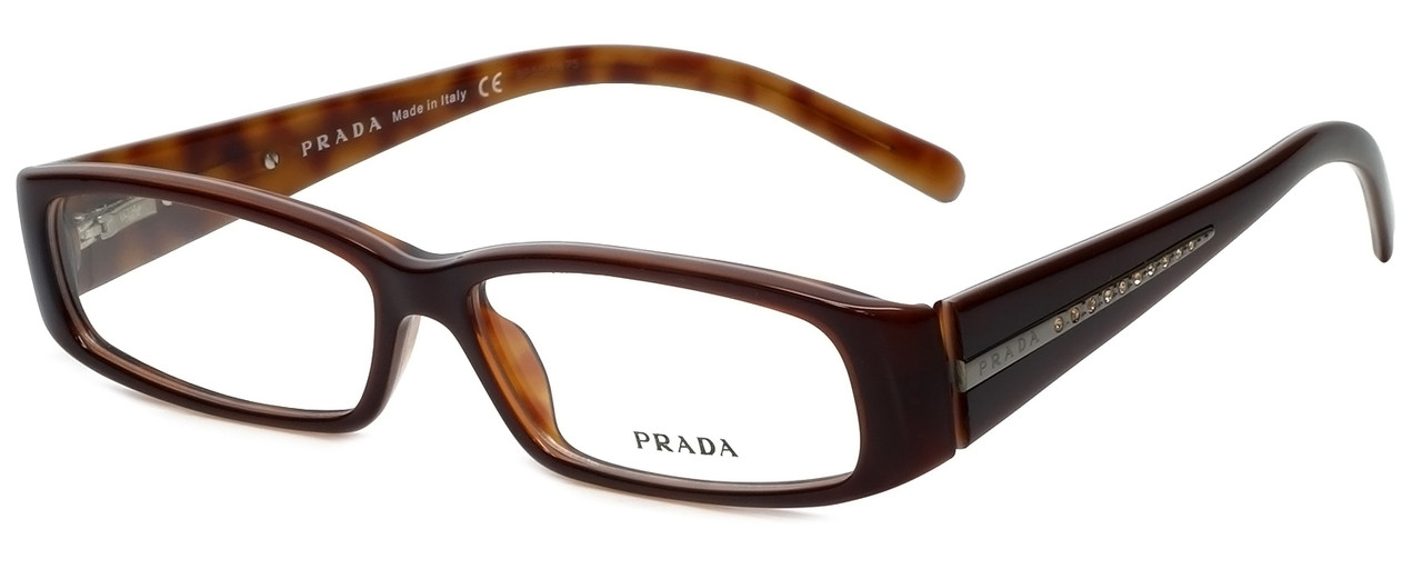 6f9768725f4 Prada Designer Reading Glasses VPR10H-70I1O1 in Brown 53mm - Speert ...