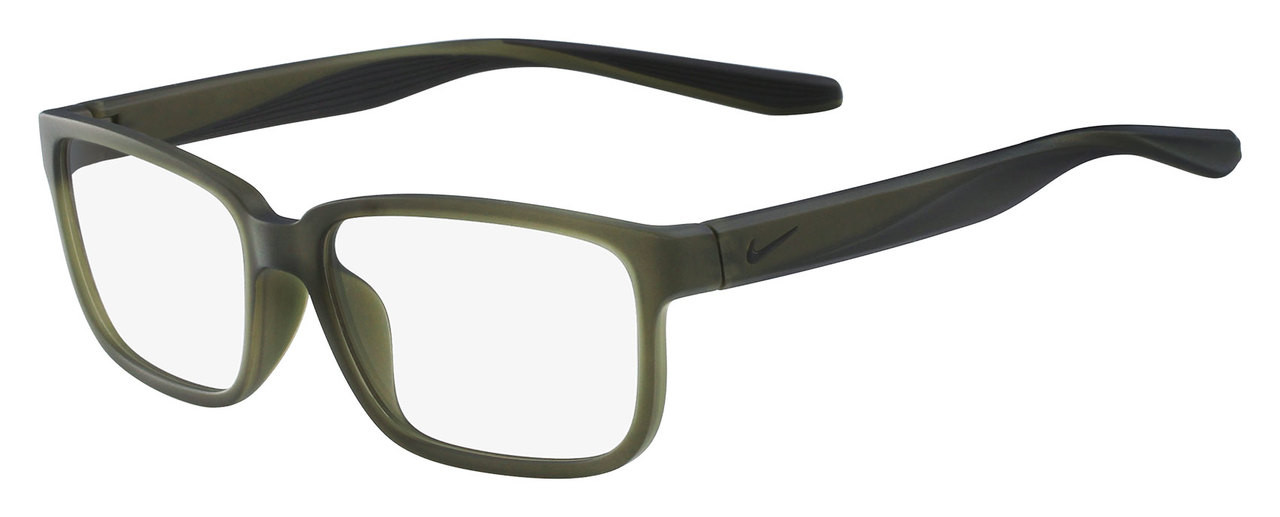 673e73bd5d0d Nike Designer Eyeglasses 7102-310 in Matte Cargo Khaki 55mm :: Rx Single  Vision