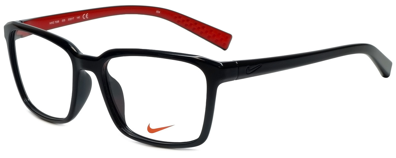 ab9786c283f8 Nike Designer Eyeglasses 7096-005 in Black Red 53mm :: Progressive ...