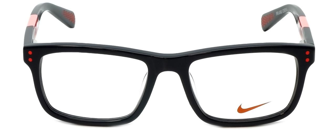 8b57706a2e Nike Designer Reading Glasses 5536-015 in Black Hyper Punch 46mm Kids Size