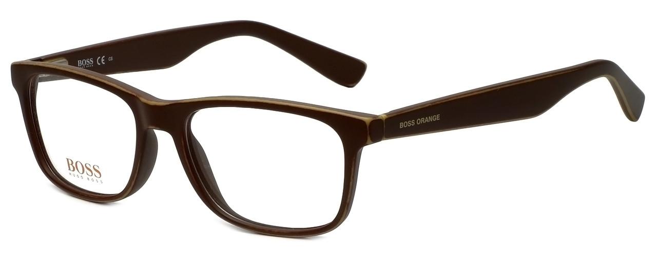 add9bf14d4b Hugo Boss Designer Reading Glasses BO0217-9FU in Distressed Brown 52mm -  Speert International
