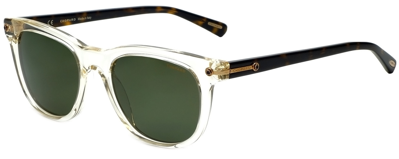 f1975f18a8 Chopard Designer Polarized Sunglasses SCH192-846P in Crystal with Green Lens