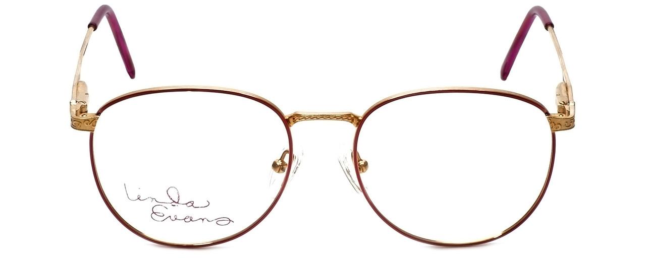 Linda Evans Designer Eyeglasses LE-169 in Burgundy 53mm :: Rx Bi-Focal