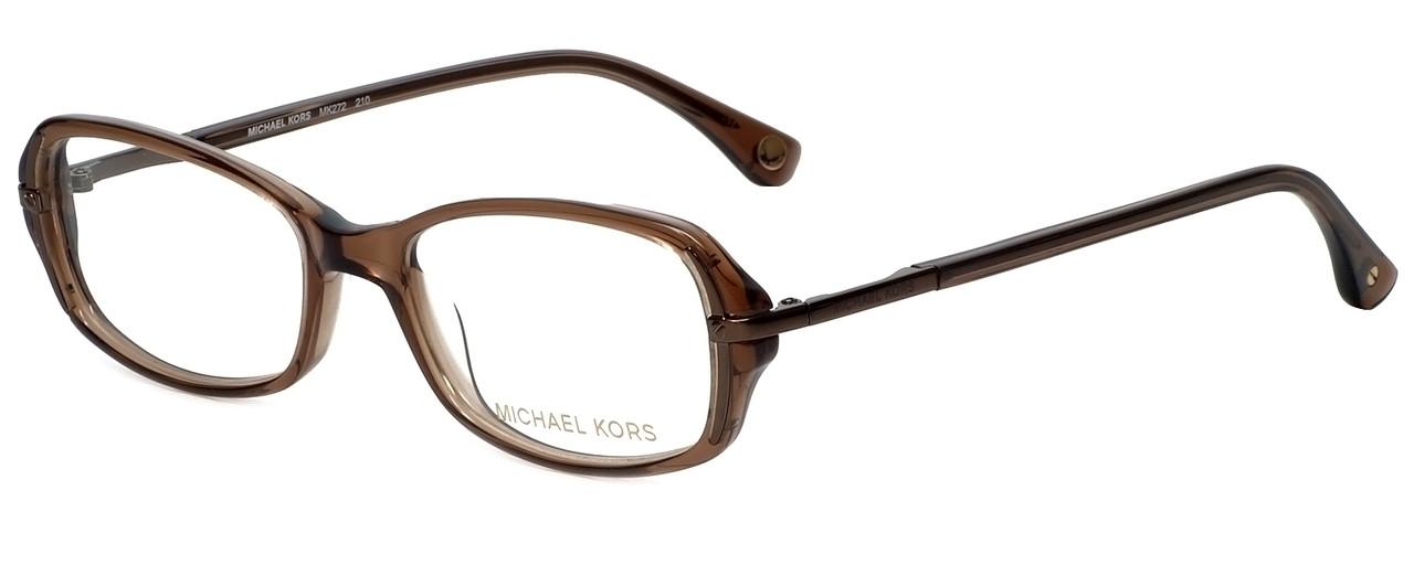 e99dbbfbe4ea Michael Kors Designer Eyeglasses MK272-210 in Brown 50mm :: Custom Left & Right  Lens - Speert International