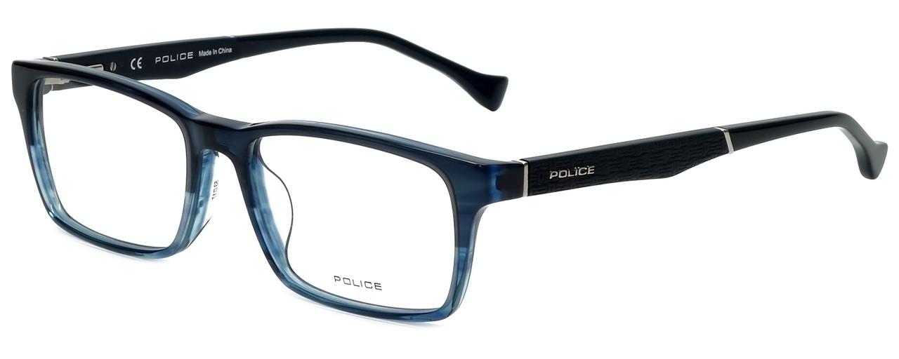 92d45f83f55 Police Designer Eyeglasses Close Up 5VPL055-0G32 in Blue Crystal 53mm     Custom Left   Right Lens - Speert International