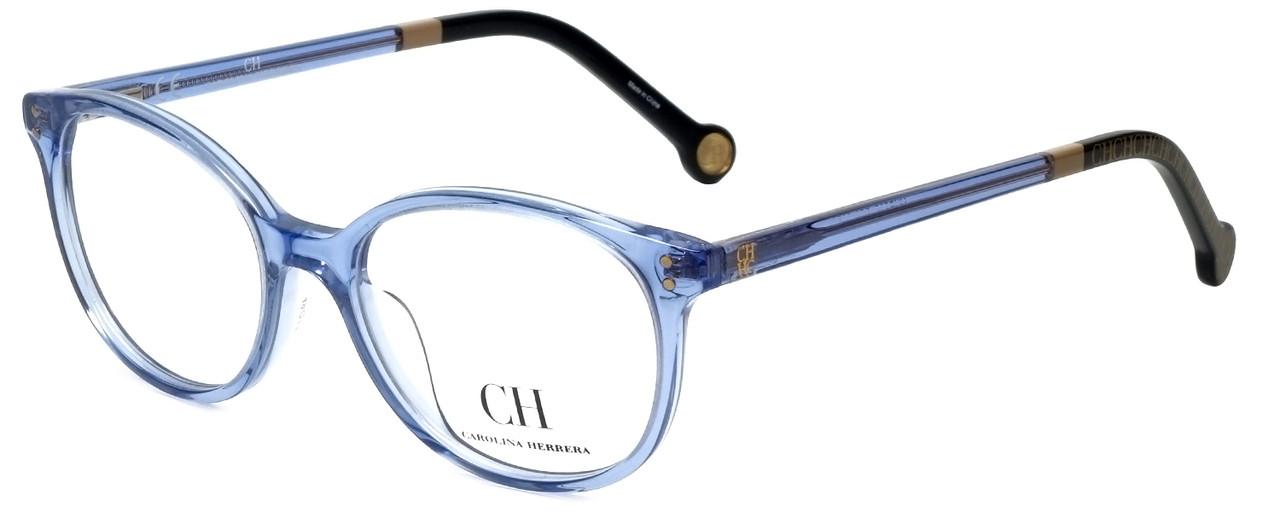 ca9a30db9 Carolina Herrera Designer Eyeglasses VHE612-095A in Blue 49mm :: Rx Single  Vision