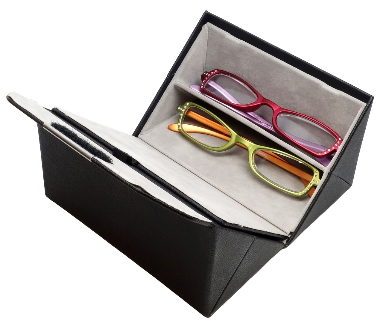 Calabria 837 Reading Glasses & Quad Case Gift Set