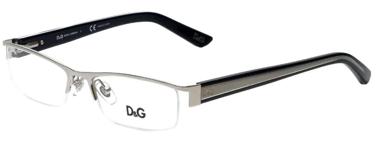 555f5506b69 Dolce   Gabbana Designer Eyeglasses DD5069-351-50 in Silver 50mm ...