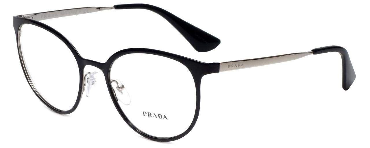 091eafad3f7f1 Prada Designer Eyeglasses VPR53T-1AB1O1 in Shiny Black 52mm    Progressive  - Speert International