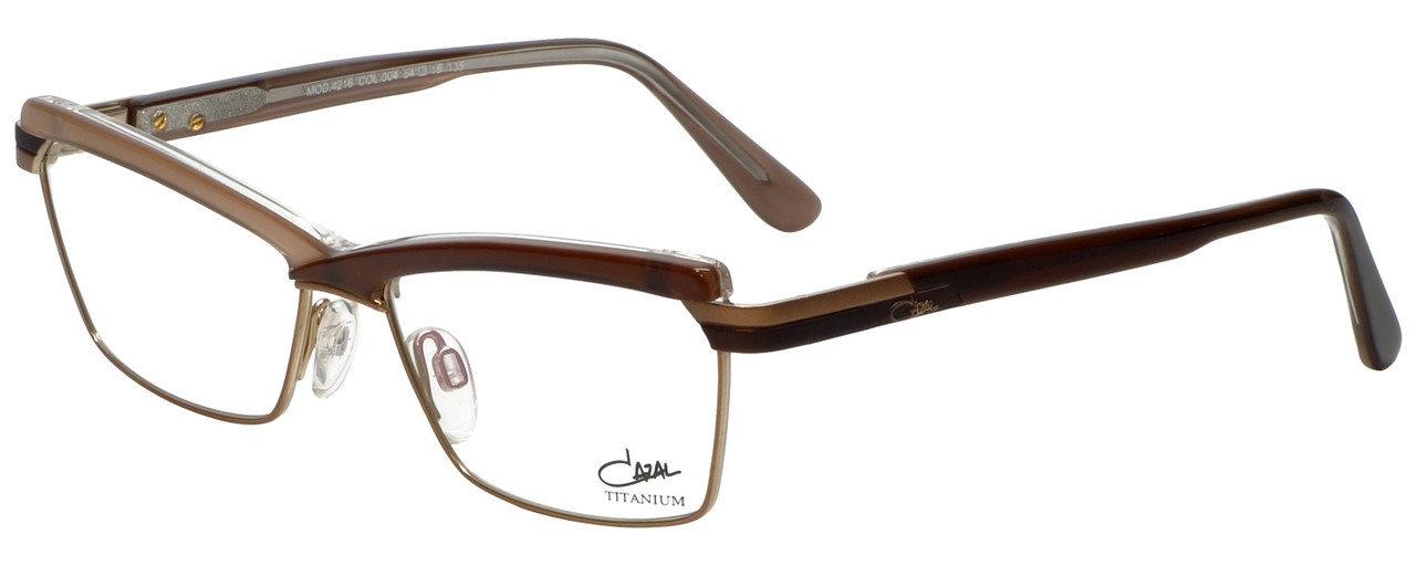 4230e755af5 Cazal Designer Eyeglasses Cazal-4216-004 in Brown Beige 54mm    Custom Left