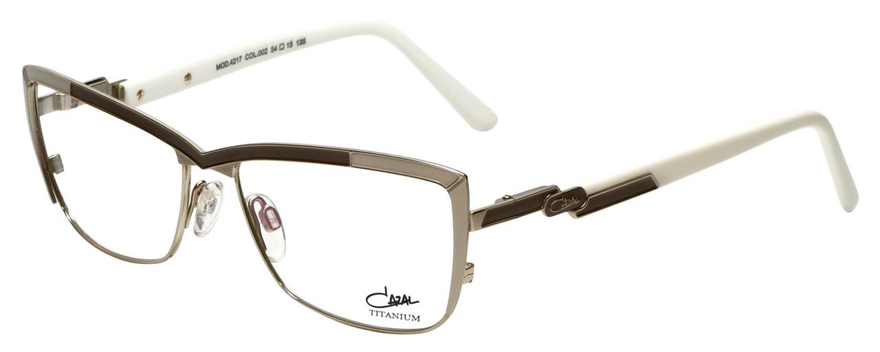 12f14061411 Cazal Designer Eyeglasses Cazal-4217-002 in White Gold 54mm ...