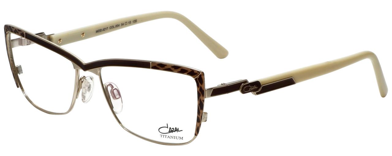 1d91249b711 Cazal Designer Eyeglasses Cazal-4217-004 in Brown Leopard Cream 54mm    Rx  Bi-Focal - Speert International