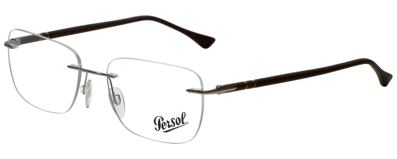 3c18b2df0d Persol Designer Eyeglasses PO2428V-1021-52 in Silver 54mm ...