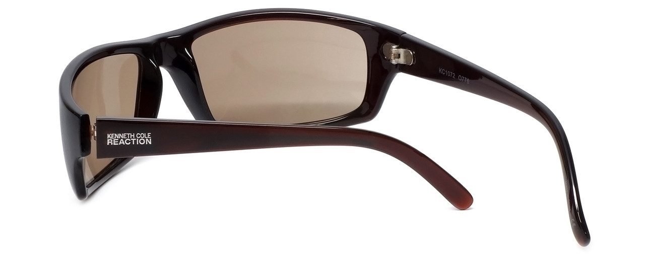 7275d40176c Kenneth Cole  Reaction  Designer Sunglasses Series KC1072-776 in Brown  Frame with Brown