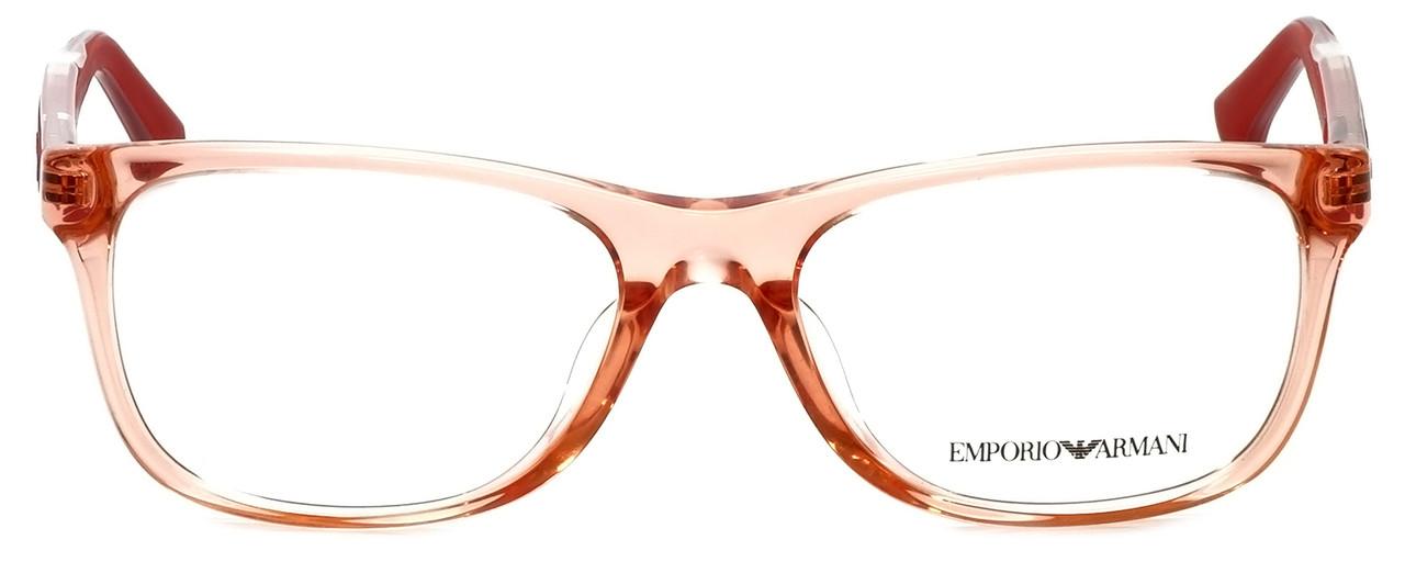 Emporio Armani Designer Eyeglasses EA3001F-5070-54 in Peach Transparent 54mm :: Rx Bi-Focal