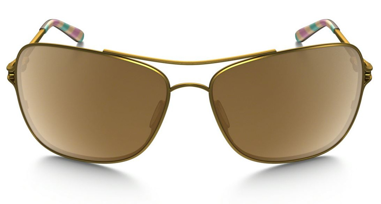 7564aa06082 Oakley Designer Sunglasses Conquest in Satin Gold   Tungsten Iridium Lens ( OO4101-03)
