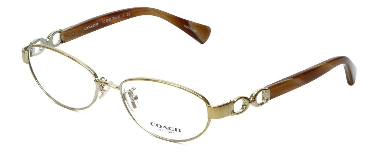 e5a6292844d0 Coach Designer Reading Glasses HC5062-9206-54 in Gold/Light Brown Horn 54mm  - Speert International