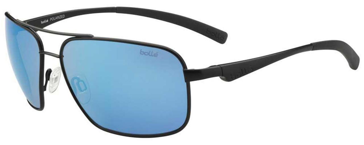075d2474fc66 Bollé Polarized Sunglasses: Brisbane in Matte Black with Blue Mirror -  Speert International