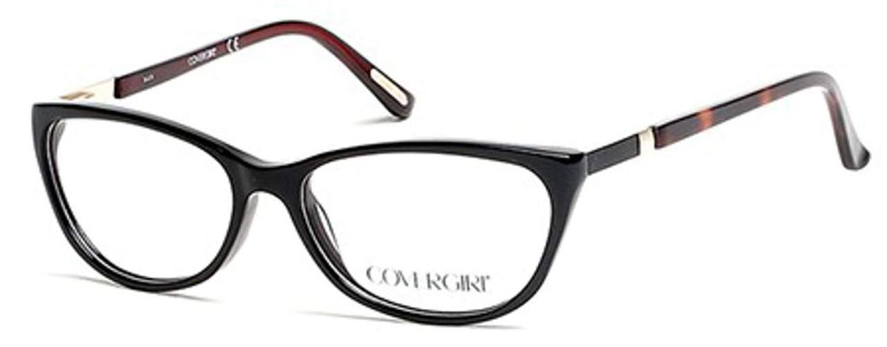 Cover Girl Designer Eyeglasses CG0534-001 in Black 53mm :: Rx Bi-Focal