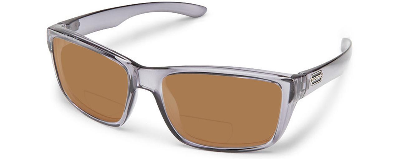 bd37b1d663 Burnished Brown. Matte-Black. Suncloud Mayor Polarized Bi-Focal Reading  Sunglasses