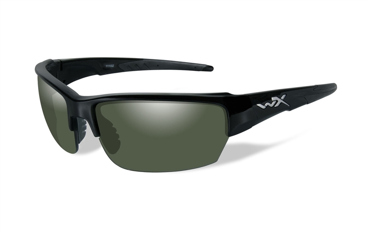 37408b3546 Wiley X Saint in Gloss-Black   Polarized Green Lens - Speert International