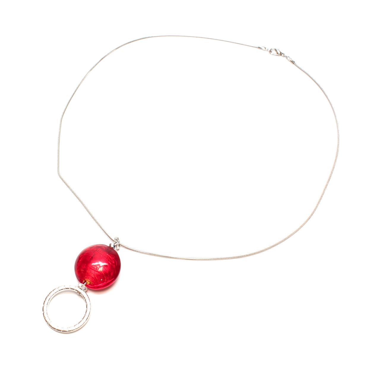 Calabria Sun/EyeGlass Necklace Skissa Murano Glass Disc