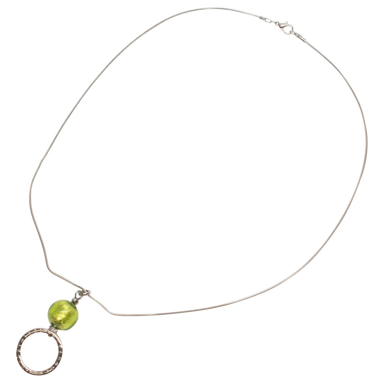 Calabria Sun/EyeGlass Necklace Sfera Murano Glass Sphere
