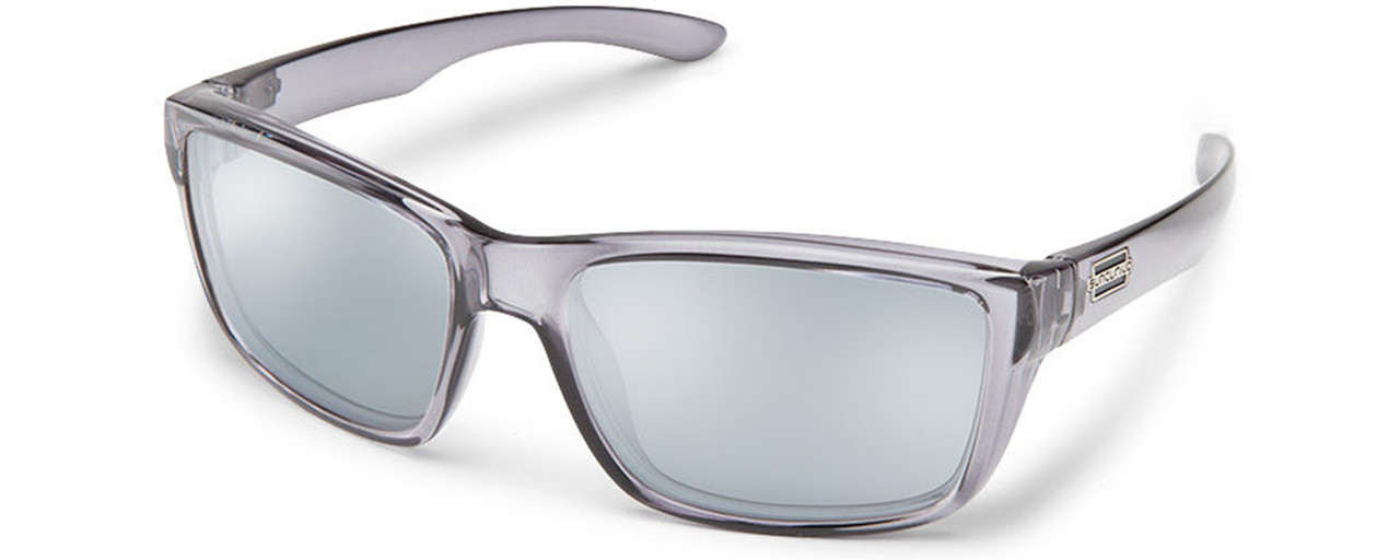 8a71bc38b5 Suncloud Mayor Polarized Sunglasses. Matte Silver Tortoise   Grey