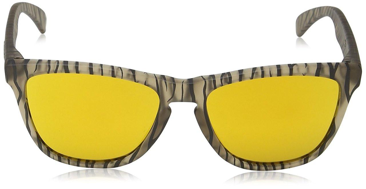 d9fa9e6f60d Oakley Designer Sunglasses Frogskins in Matte Sepia   24K Iridium Lens ...