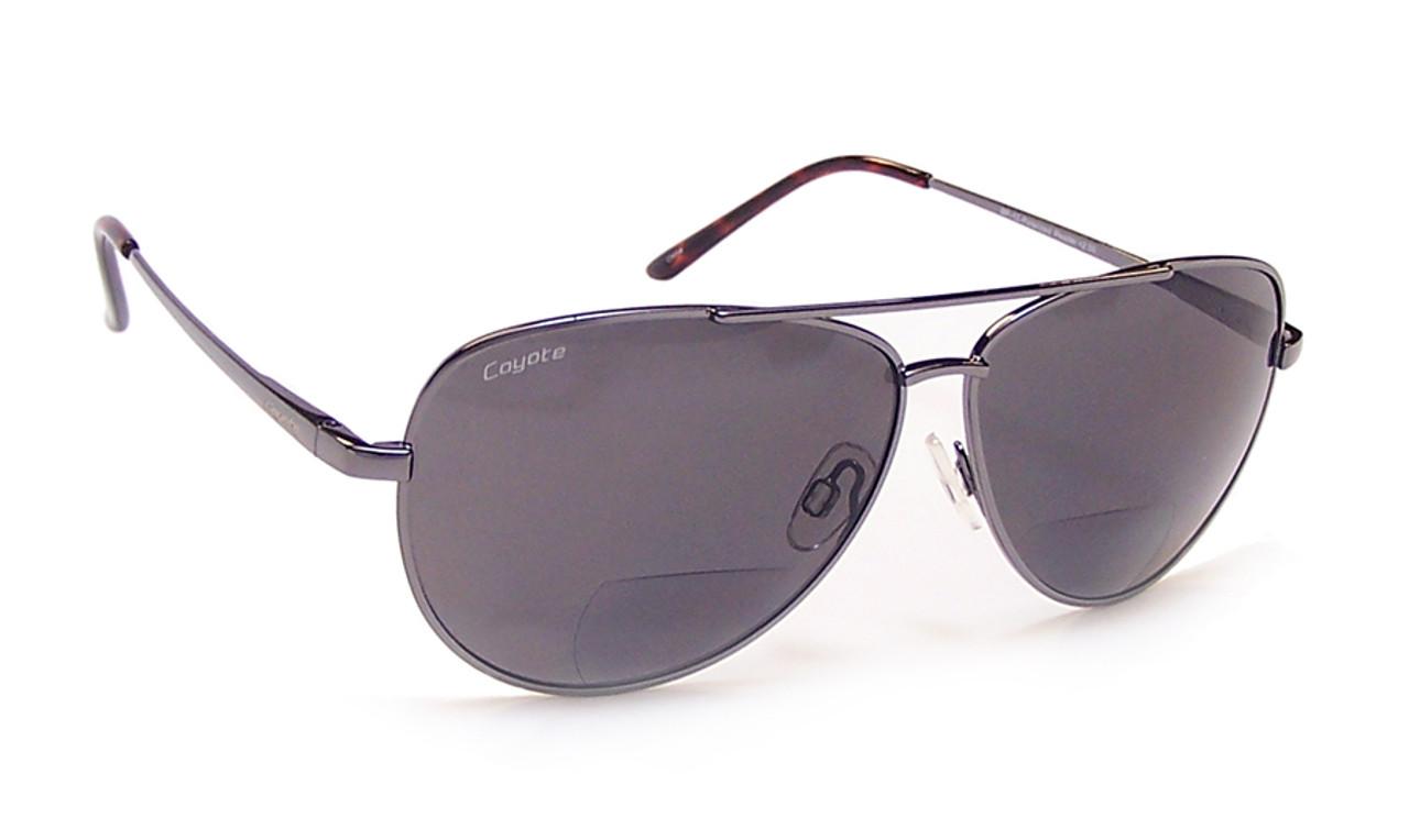 2888667e0fefe Coyote BP-12 Polarized Bi-focal Reading Sunglasses in Gun - Speert  International