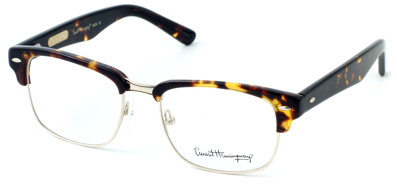 6ded86a689 Ernest Hemingway Eyeglass Collection 4629 in Gloss Tortoise   Gold     Custom Left   Right Lens - Speert International