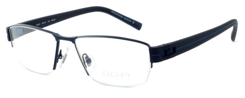 OGA Designer Eyeglasses 7922O-BN051 in Black & Blue :: Custom Left & Right Lens