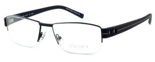 OGA Designer Eyeglasses 7923O-NN062 in Black & Brown :: Custom Left & Right Lens