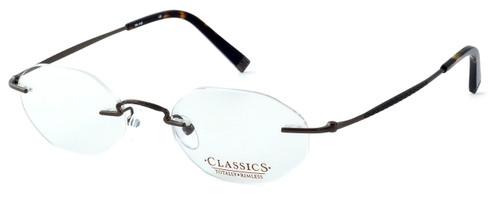 Totally Rimless Designer Eyeglasses TR145-SGE in Satin Brown :: Custom Left & Right Lens