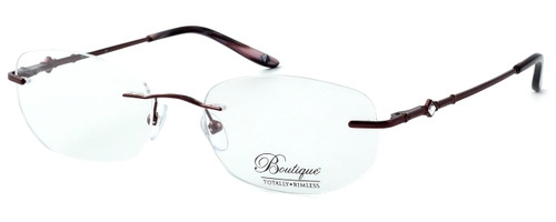 Totally Rimless Designer Eyeglasses TR164-DBG in Deep Burgundy :: Custom Left & Right Lens