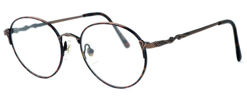 Fashion Optical Designer Eyeglasses E303 in Antique Brown & Demi Brown :: Custom Left & Right Lens