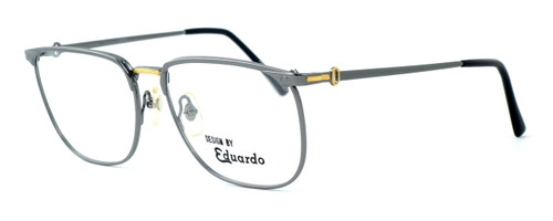 Fashion Optical Designer Eyeglasses E2055 in Gunmetal 57mm :: Custom Left & Right Lens