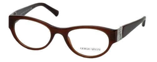 Giorgio Armani Designer Eyeglasses AR7022H-5155 50mm in Gauze Brown :: Custom Left & Right Lens