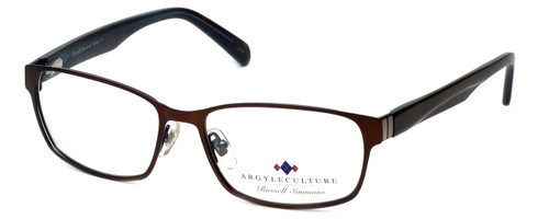 Argyleculture Designer Eyeglasses Django in Brown-Blue :: Custom Left & Right Lens