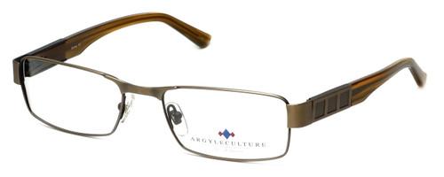 Argyleculture Designer Eyeglasses Dorsey in Gold :: Custom Left & Right Lens