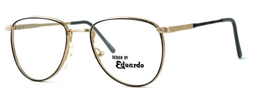 Regency International Designer Eyeglasses Dover in Gold Grey 55mm :: Custom Left & Right Lens