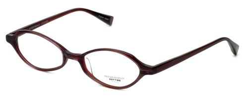 Oliver Peoples Designer Eyeglasses Carina CHA in Purple Stripe 47mm :: Custom Left & Right Lens