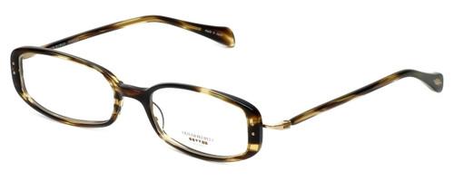 Oliver Peoples Designer Eyeglasses Chrisette COCO in Cocobolo 49mm :: Custom Left & Right Lens